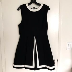 Black Cameo A-Line Dress
